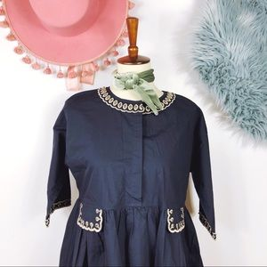 Retro Boho Floral Tent Style Dress M